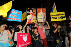 Protest government in thailand Royalty Free Stock Image