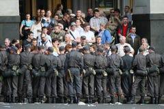 Protest het anti-Kremlin in Moskou royalty-vrije stock fotografie
