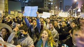 Protest i Brasilien Arkivbild