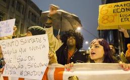 Protest i Brasilien Royaltyfri Bild