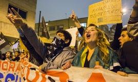 Protest i Brasilien Arkivfoto