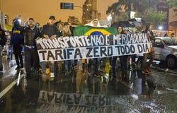 Protest i Brasilien Royaltyfri Foto