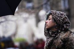 Protest i Budapest Arkivfoton