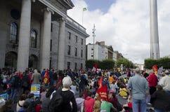 Protest i Dublin, Irland. Royaltyfri Fotografi