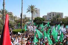 Protest i gaza Royaltyfria Bilder