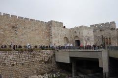 Protest i Jerusalem Royaltyfria Foton