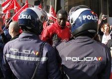 Protest i Spanien 019 Fotografering för Bildbyråer