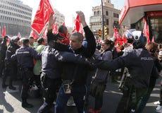 Protest i Spanien 014 Arkivbilder
