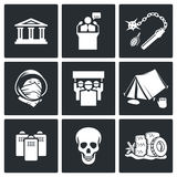 Protest icon set Stock Images