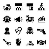 Protest icon set Royalty Free Stock Photo