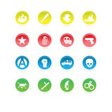 Protest icons color. Circles isolated on white background Royalty Free Stock Image