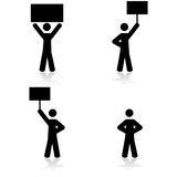 Protest icons Stock Photography