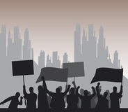Protest. Illustration of a group of angry protesters Stock Images