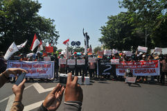 The Protest of Indonesia Election Royalty Free Stock Image
