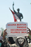 The Protest of Indonesia Election Royalty Free Stock Photos