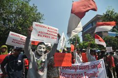 The Protest of Indonesia Election Royalty Free Stock Images