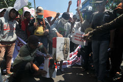 Protest Indonezja wybory Zdjęcia Royalty Free
