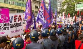 Protest during International Womens Day celebration, Manila, Philippines Royalty Free Stock Photos