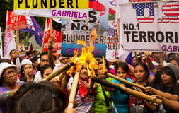 Protest during International Womens Day celebration, Manila, Philippines Stock Photography