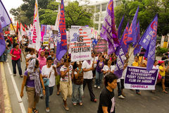 Protest during International Womens Day celebration, Manila, Philippines Royalty Free Stock Image