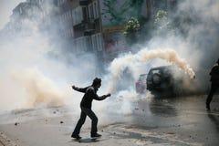 Protest in Istanboel Royalty-vrije Stock Fotografie
