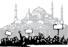 Protest in Istanbul Royalty Free Stock Photo