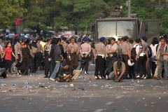 Protest at Jakarta Royalty Free Stock Photo