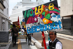 Protest in Japan Royalty Free Stock Photo
