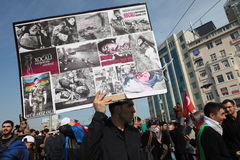 Protest Khojaly Massacre Royalty Free Stock Photography