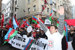 Protest Khojaly Massacre Stock Images