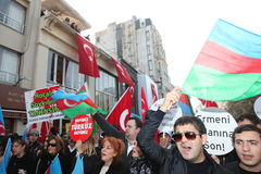 Protest Khojaly Massacre Royalty Free Stock Photo