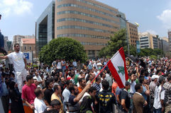 Protest in Lebanon Stock Photography