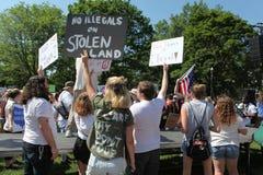 Protest Maart in gelijkstroom royalty-vrije stock afbeeldingen