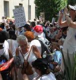 Protest Maart in gelijkstroom Stock Fotografie
