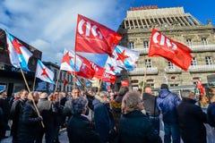 Protest Maart - Vigo, Spanje Royalty-vrije Stock Fotografie