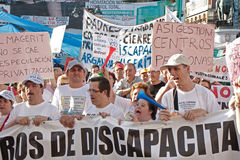 Protest in Madrid, Spain Royalty Free Stock Photos