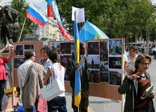 Protest manifestation against war in Ukraine Stock Images