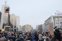 Protest manifestation of muscovites against war in Ukraine Stock Photography