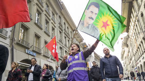 Protest march against Erdogan in Bern, Switzerland Stock Photography