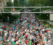 Protest march Bulgaria Stock Images