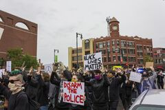 A Protest March Honoring the Death of George Floyd