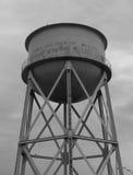 Water Tower Alcatraz Prison Graffiti Stock Image