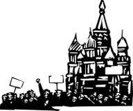 Protest in Moskou Royalty-vrije Stock Fotografie