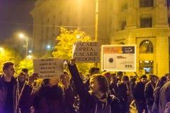 Protest mot coruption och rumänsk regering Royaltyfri Fotografi