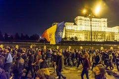 Protest mot coruption och rumänsk regering Royaltyfri Foto