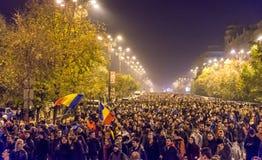 Protest mot coruption och rumänsk regering Royaltyfria Foton