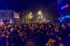 Protest mot coruption och rumänsk regering Fotografering för Bildbyråer
