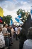 Protest mot den Ecuador regeringen Royaltyfria Foton