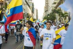 Protest mot den Ecuador regeringen Royaltyfri Fotografi