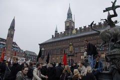 PROTEST MOT FINANSIELL POLITIK FÖR EDUATION royaltyfri bild